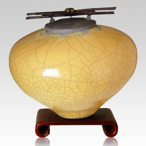 Raku Persimmon Multi Family Cremation Urn