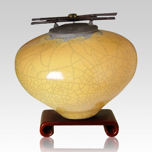 Raku Persimmon Extra Large Cremation Urn