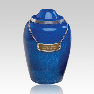 Pet Cobalt Large Cremation Urn