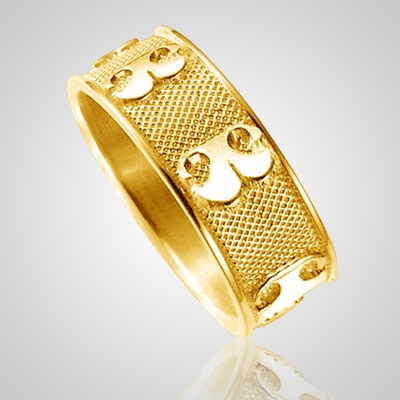 Pet Heirloom Ring Print 14k Yellow Gold Keepsakes