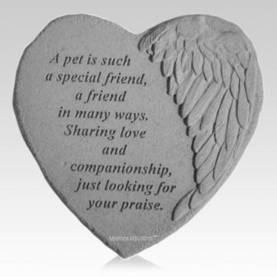 Pet Angel Heart Stone