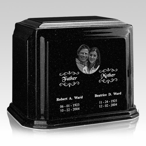 Picture Charcoal Marble Urn For Two
