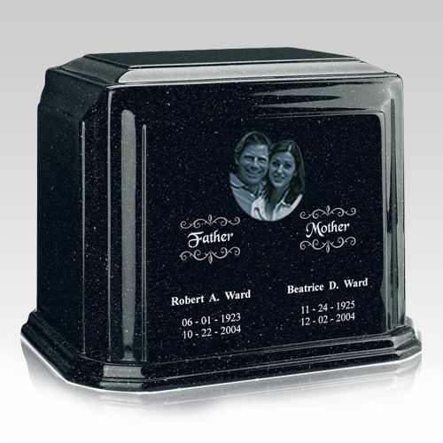 Picture Emerald Marble Urn For Two