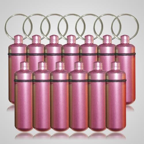 Pink Cremation Discount Keychains