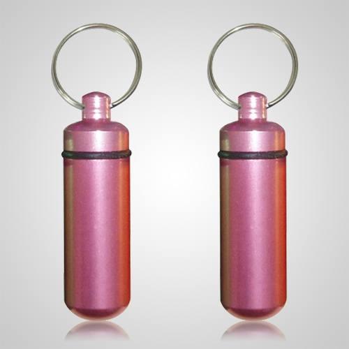 Pink Cremation Keychains
