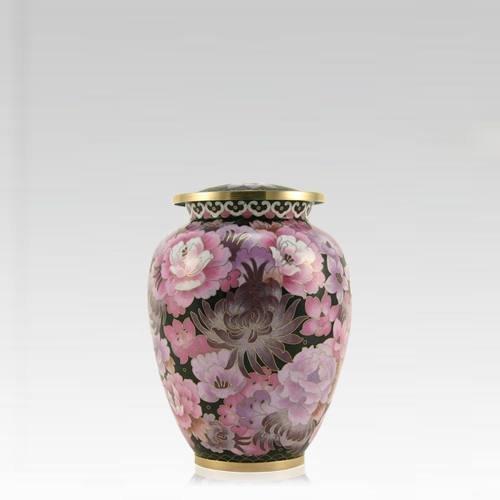 Pink Flowers Elite Keepsake Cloisonne Urn