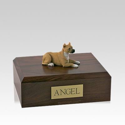 Pit Bull Tan Medium Dog Urn