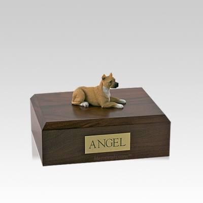 Pit Bull Tan Small Dog Urn