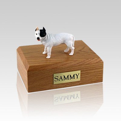 Pit Bull Terrier White Large Dog Urn
