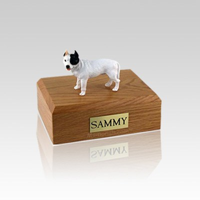 Pit Bull Terrier White Small Dog Urn