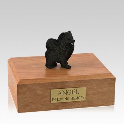 Pomeranian Black Large Dog Urn
