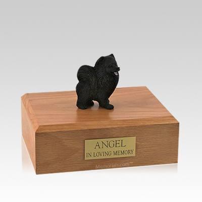 Pomeranian Black Medium Dog Urn