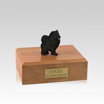 Pomeranian Black Small Dog Urn