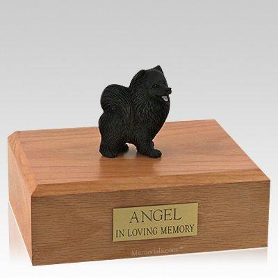 Pomeranian Black X Large Dog Urn
