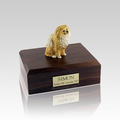 Pomeranian Brown Small Dog Urn