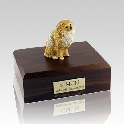 Pomeranian Brown X Large Dog Urn