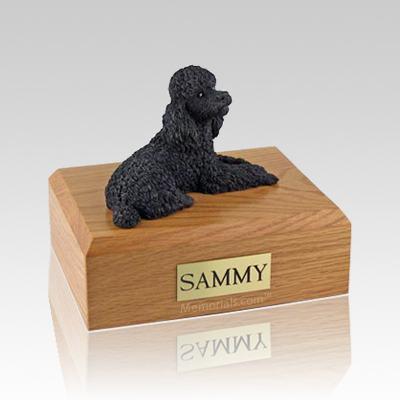 Poodle Black Large Dog Urn