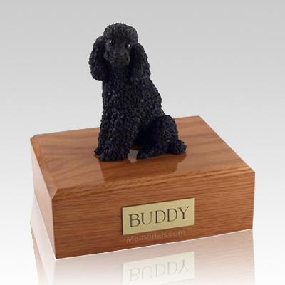 Poodle Black Sitting X Large Dog Urn