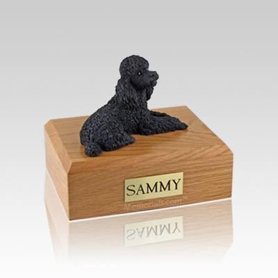 Poodle Black Small Dog Urn