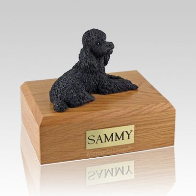 Poodle Black X Large Dog Urn
