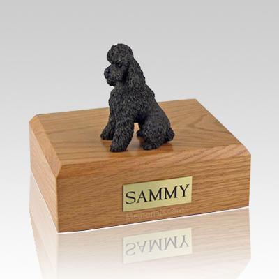 Poodle Chocolate Sport Cut X Large Dog Urn