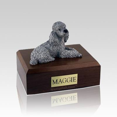 Poodle Gray Medium Dog Urn