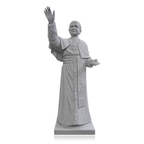 Pope John Paul II Granite Statue