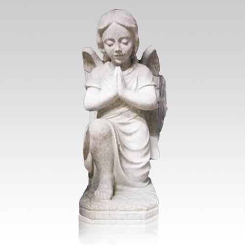 Praying Angel Granite Statue