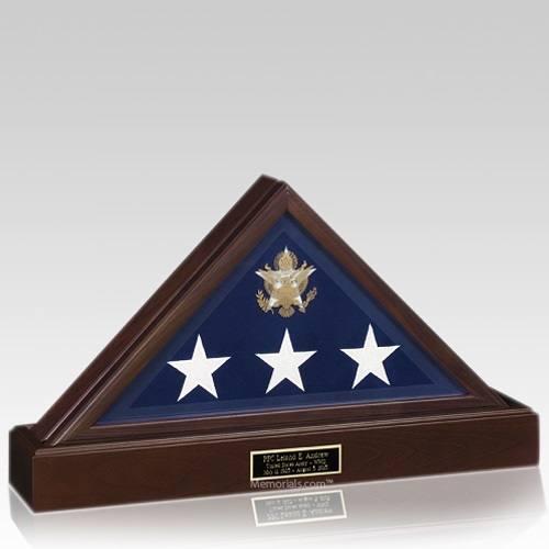 Presidential Cherry Flag Case with Pedestal Urn