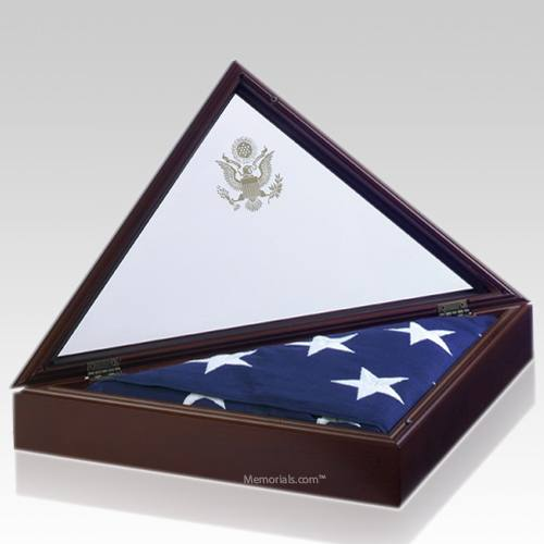 Presidential Cherry Flag Display Case
