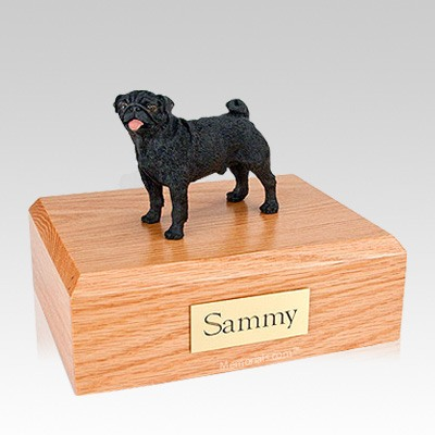 Pug Black Large Dog Urn