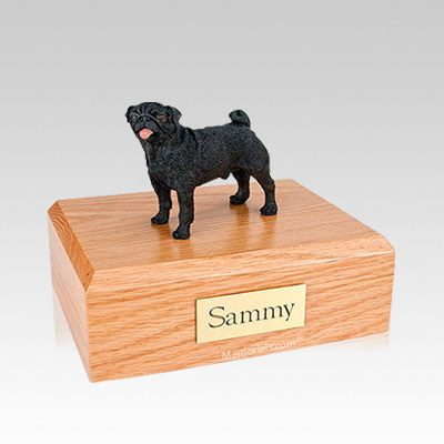Pug Black Medium Dog Urn