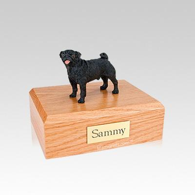 Pug Black Small Dog Urn