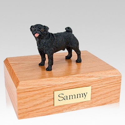 Pug Black X Large Dog Urn