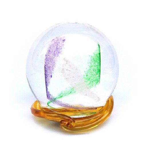 Purple & Green Swirl Medium Memory Glass Keepsake