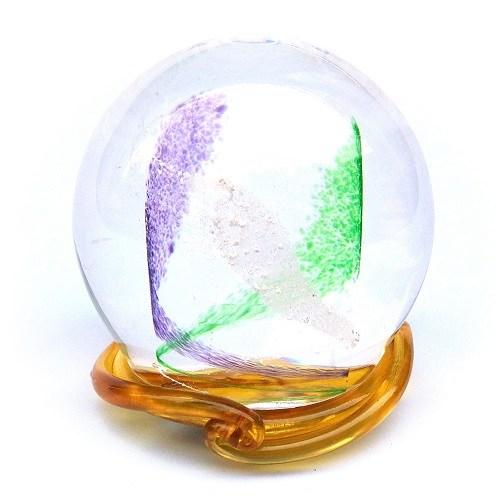 Purple & Green Swirl Memory Glass Keepsake