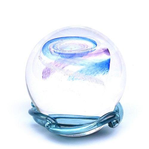 Purple & Sky Blue Galaxy Memory Glass Keepsake