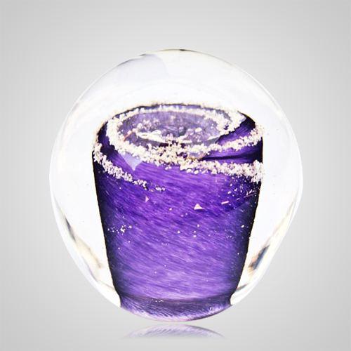 Purple Cremation Glass Weight