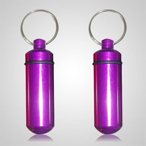 Purple Cremation Keychains