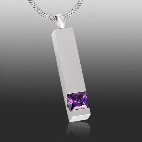 Purple Cremation Necklace