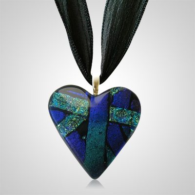 Purple Heart Ashes Pendant