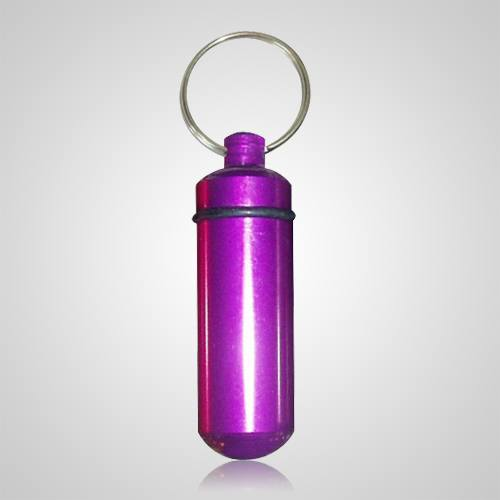 Purple Pet Keepsake Keychain