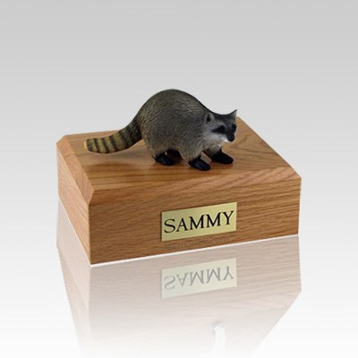 Raccoon Small Cremation Urn