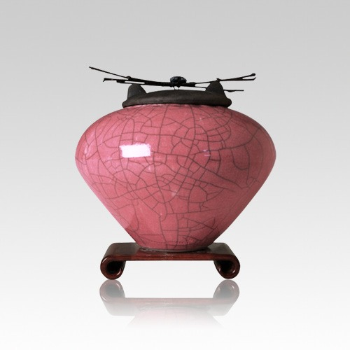 Raku Rose Small Cremation Urn