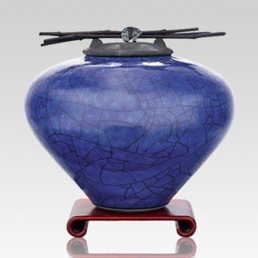 Raku Lapis Extra Large Cremation Urn