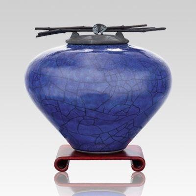 Raku Lapis Large Cremation Urn