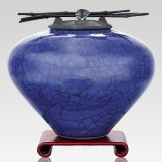 Raku Lapis Multi Family Cremation Urn