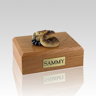 Rattlesnake Medium Cremation Urn