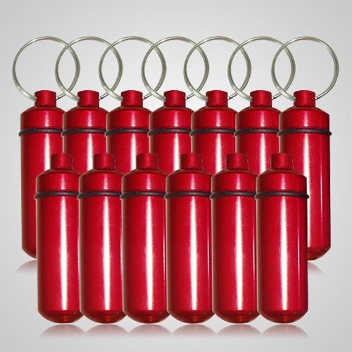 Red Cremation Discount Keychains