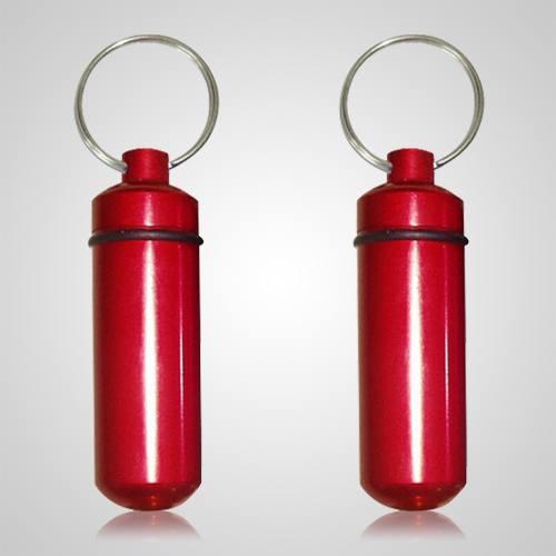 Red Cremation Keychains